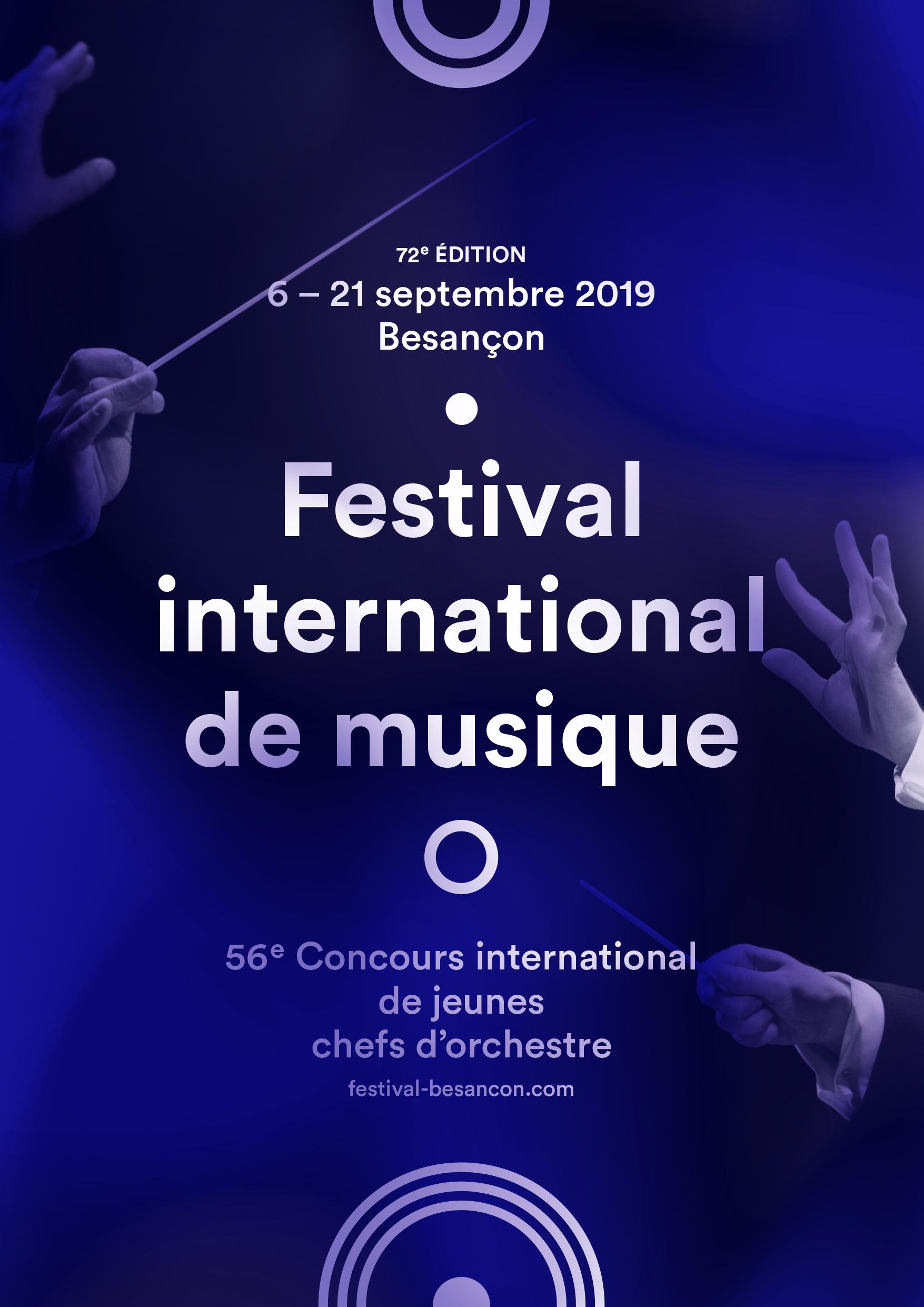 Festival international de musique – Besançon – du 6 au 21 septembre 2019
