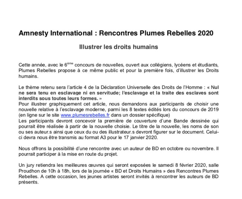 Plumes rebelles 2020