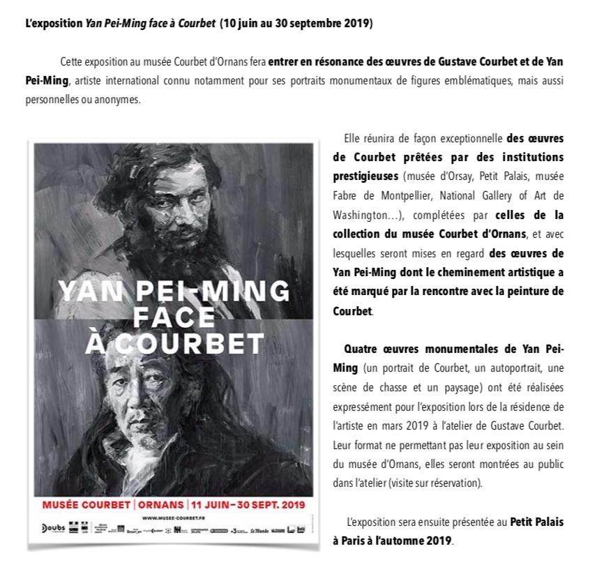"""Musée Courbet – Exposition """"Yan Pei-Ming face à Courbet"""" à voir jusqu'au 30 septembre 2019"""