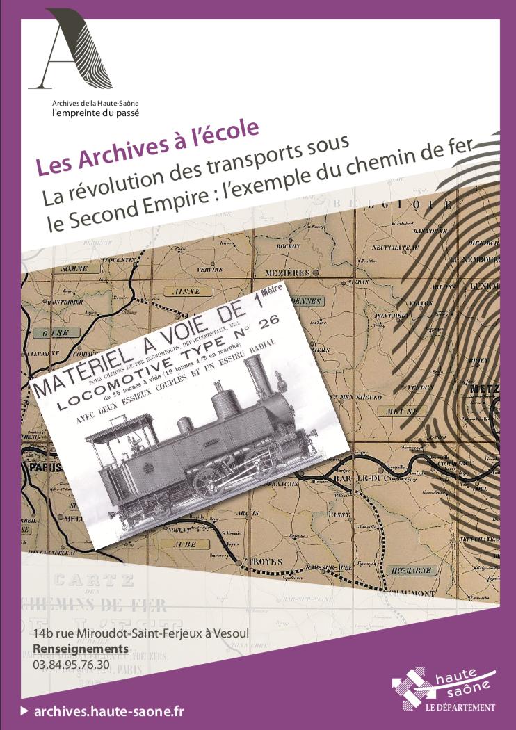 Archives de la Haute-Saône – Dossier pédagogique : le chemin de fer
