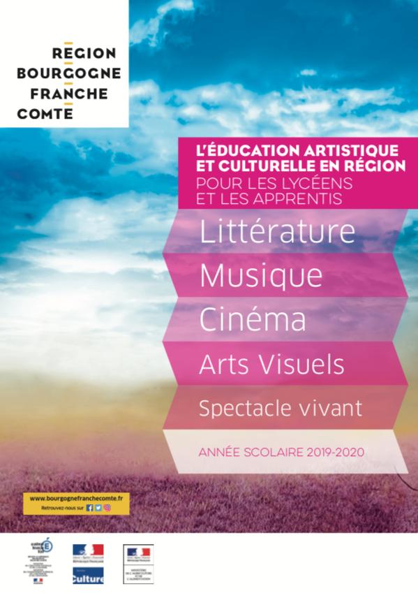 Plaquette des dispositifs d'EAC 2019-2020 dans les lycées de Bourgogne Franche-Comté