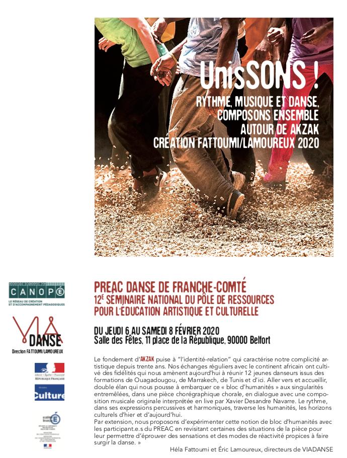 PREAC danse de Franche-Comté – Du 6 au 8 février 2020