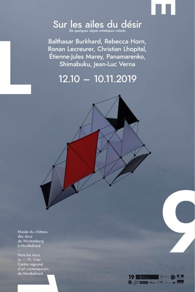 """Exposition du 19, Centre régional d'art contemporain """"Sur les ailes du désir"""" – Du 12 octobre au 10 novembre 2019"""