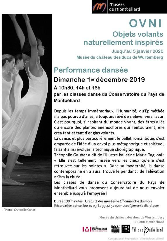 Performance dansée – Dimanche 1er décembre 2019 – Musées de Montbéliard