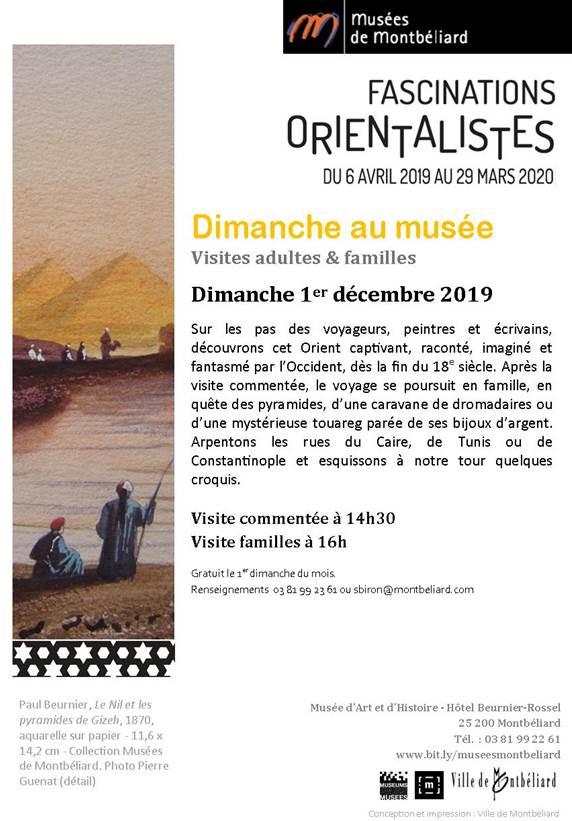 Dimanche au musée – Dimanche 1er décembre 2019 – Musées de Montbéliard
