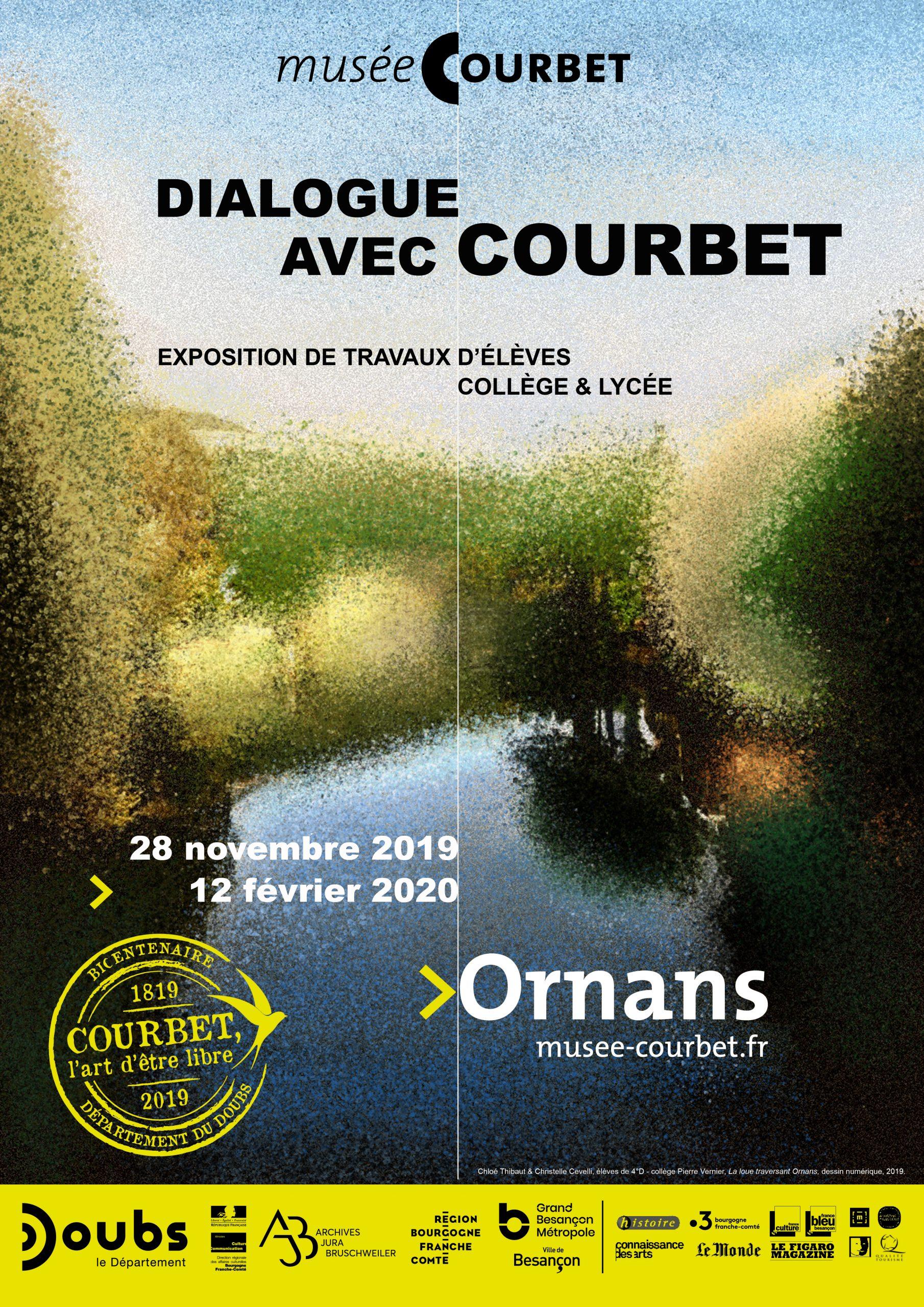 Dialogue avec Courbet – Exposition de travaux d'élèves jusqu'au 12 février 2020