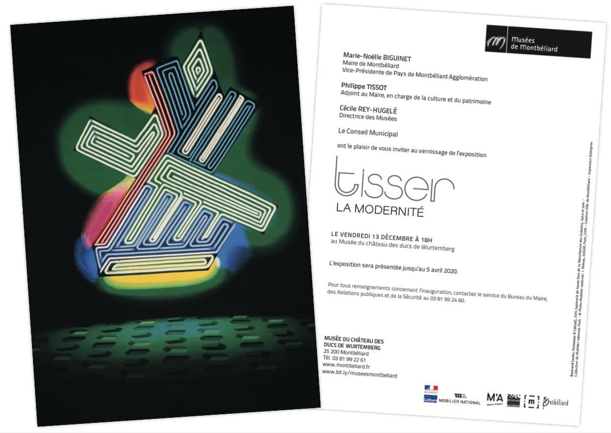 Musée du château des ducs de Wurtemberg : Inauguration de l'exposition : Tisser la modernité, le vendredi 13 décembre 2019 à 18h