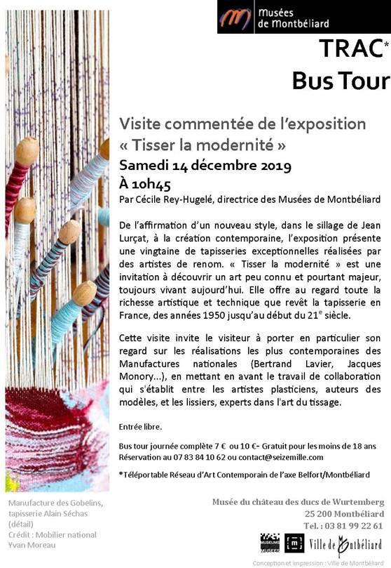 Bus Tour du réseau d'art contemporain – Samedi 14 décembre 2019 – Musées de Montbéliard