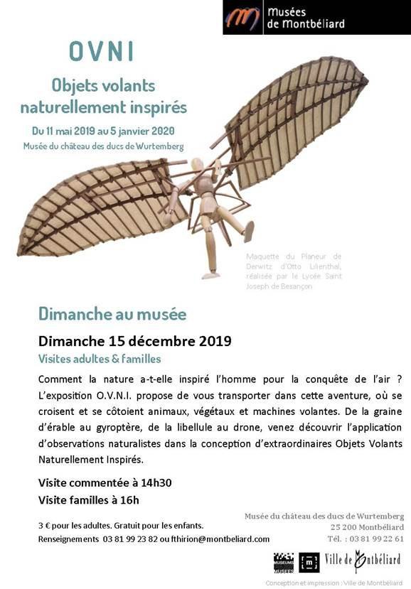 Dimanche au musée – Dimanche 15 décembre 2019 – Musées de Montbéliard