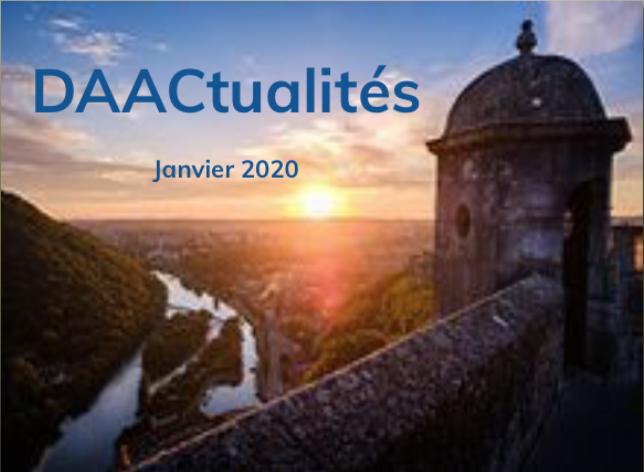 DAACtualités – Découvrez le numéro de janvier 2020 !