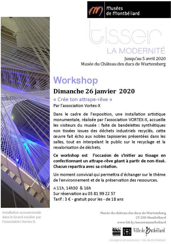 """Workshop """"Crée ton propre attrape-rêve"""" – Dimanche 26 janvier 2020 – Musées de Montbéliard"""