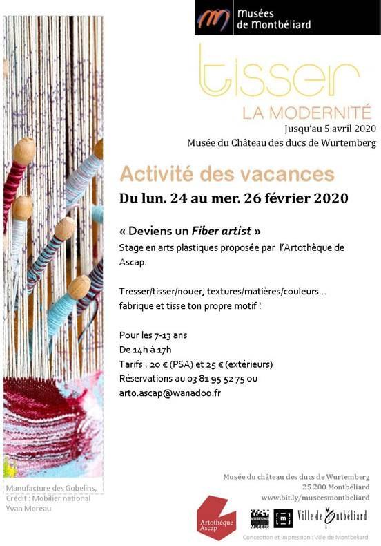 Activités des vacances – Février 2020 – Musées de Montbéliard & Artothèque Ascap