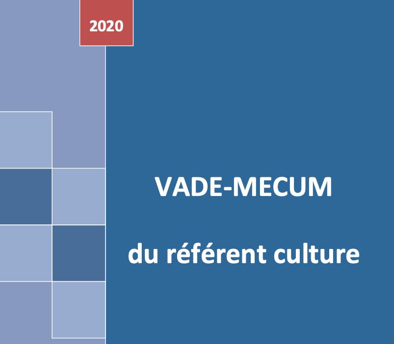 Edition 2020 du vade-mecum du référent culture