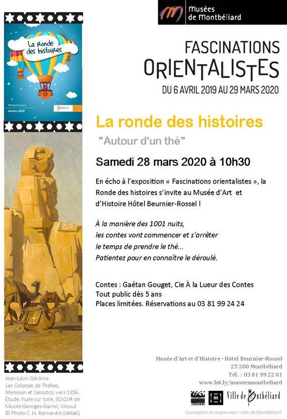La Ronde des histoires – Samedi 28 mars 2020 – Médiathèque et Musées de Montbéliard