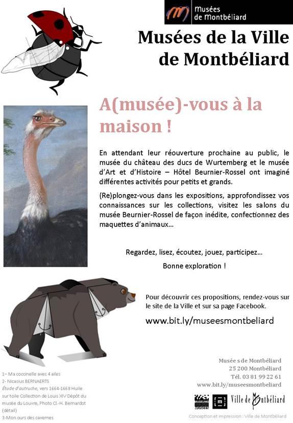 A(musée)-vous à la maison – Les Musées de Montbéliard s'invitent chez vous !