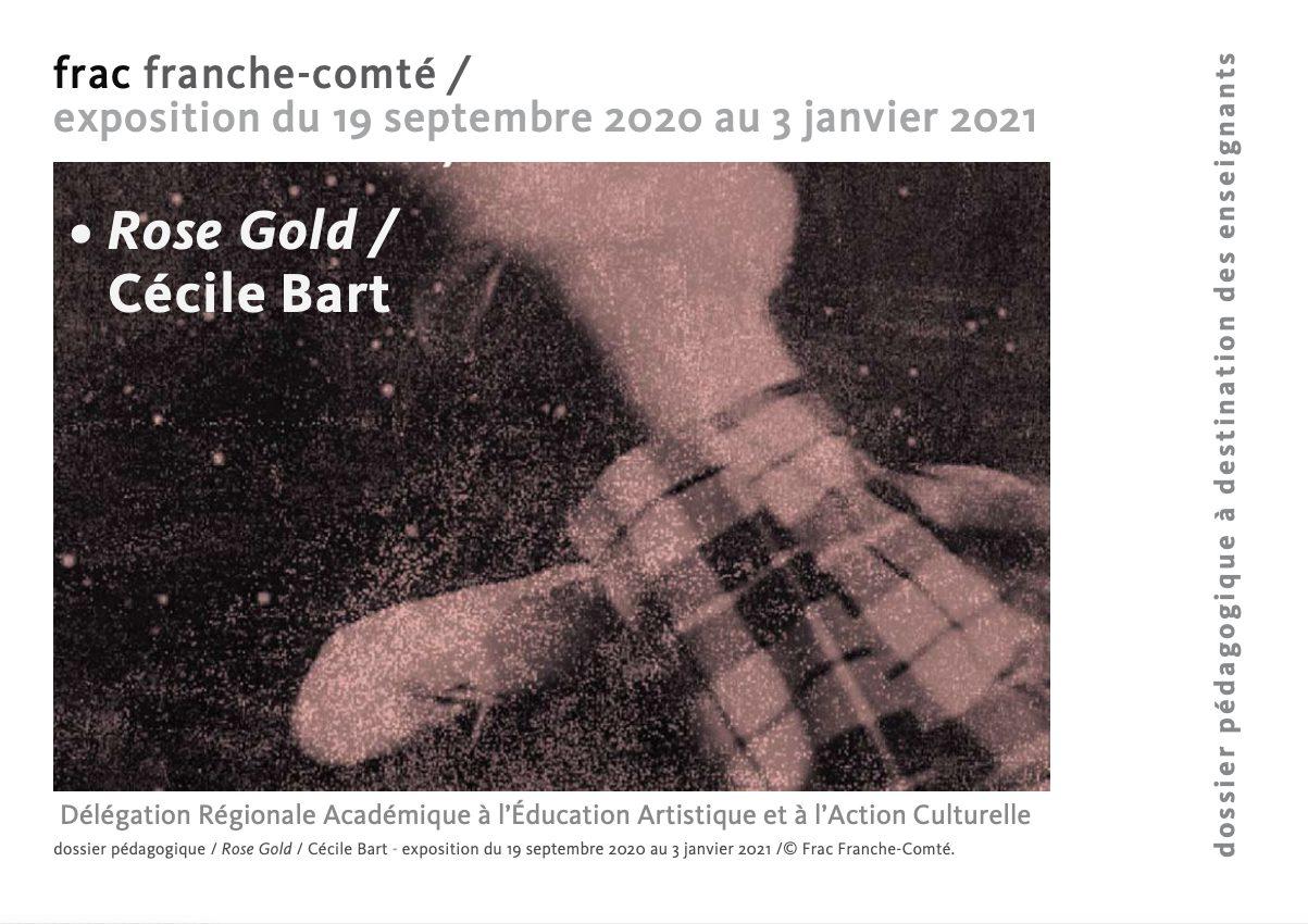 Dossier pédagogique Exposition Rose Gold de Cécile Bart au Frac Franche-Comté