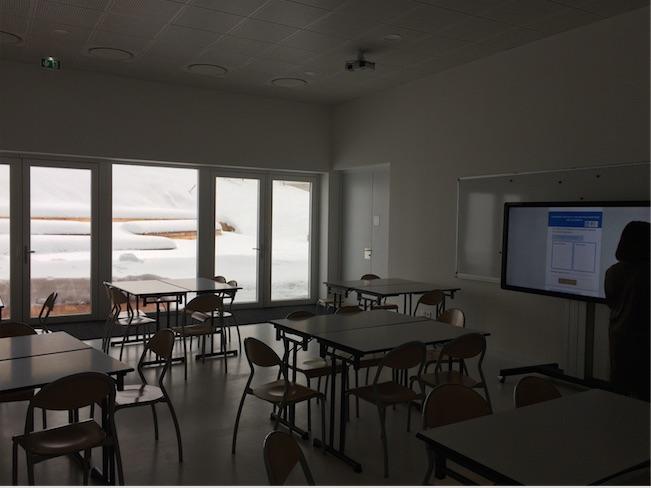 la salle pédagogique